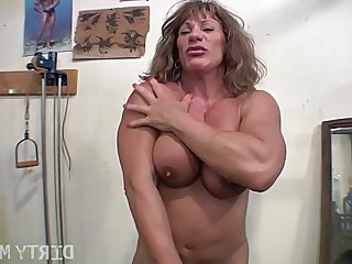 Big Tits Brunette Muscled