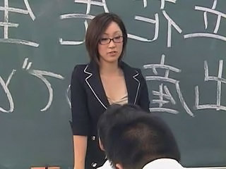 Asian Brunette Glasses Japanese Teacher