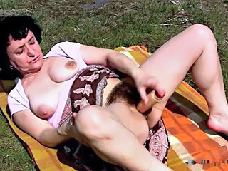 Brunette Clothed Hairy Masturbating Mature Natural Outdoor Solo Toy