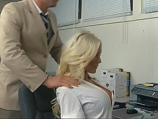 Big Tits Blonde MILF Office