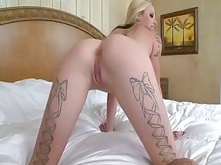 Amazing Big cock Blonde Interracial Tattoo