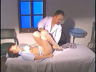 Asian Brunette Doctor Japanese Stockings