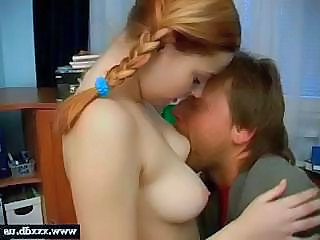 Natural Old and Young Pigtail Redhead Teen