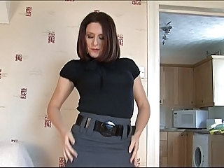Brunette MILF Pornstar Stockings
