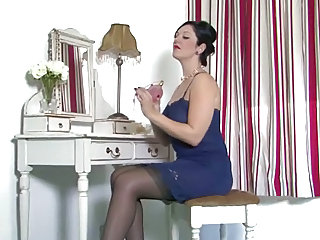 Brunette Mature Stockings