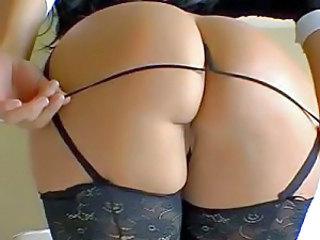 Ass Bus Close up Lingerie Panty Stockings