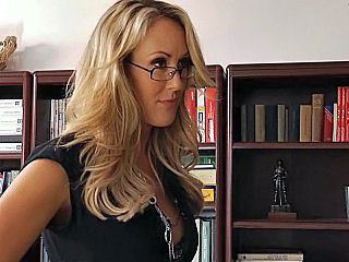 Amazing Blonde Glasses MILF Pornstar Teacher