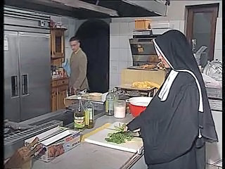 Anal German Kitchen Nun