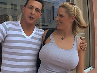Amazing Big Tits Glasses Italian MILF Outdoor