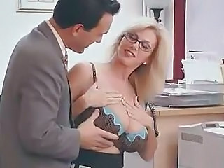 Big Tits Glasses MILF Mom Office