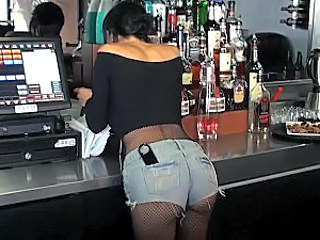 Amazing Ass Drunk Fishnet Public