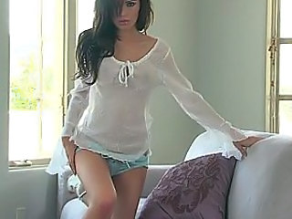 Amazing Brunette Skinny Solo Young