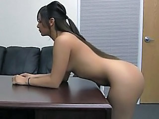 Amateur Brunette Casting Long hair