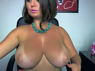 Amazing Big Tits Brunette MILF Pornstar Webcam