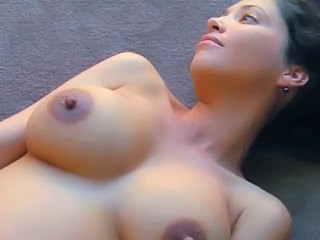 Amazing Brunette MILF Natural Nipples