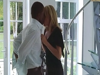 Blonde Interracial Kissing Softcore