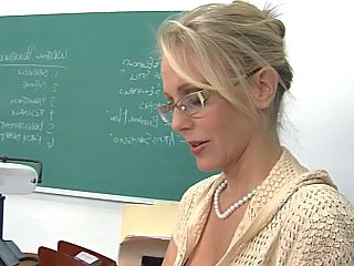 Blonde Glasses MILF Pornstar Teacher