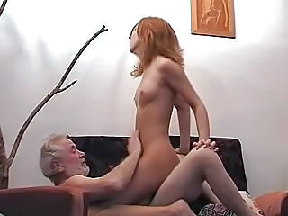 Daddy Daughter Older Old and Young Riding Small Tits