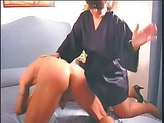 BBW Man Mature Spanking Strapon