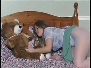 Brunette Cute Masturbating Pantyhose Teen