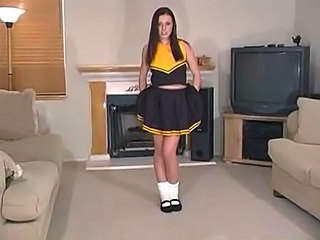 Brunette Cheerleader Teen Uniform
