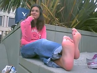 Amateur Brunette Feet Outdoor Teen Turkish