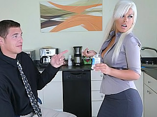Babe Big Tits Blonde Office Pornstar Secretary