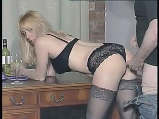 Blonde British Doggystyle European Hardcore Lingerie Stockings