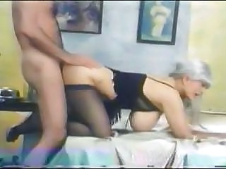 Big Tits Blonde Doggystyle Homemade Lingerie Stockings