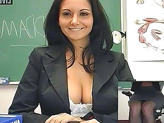 Babe Big Tits Brunette Lingerie Pornstar School Teacher