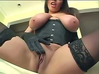 Big Tits Brunette Pornstar Shaved Stockings