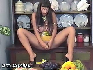 Big Tits Brunette Kitchen Masturbating Mature Pissing Toy