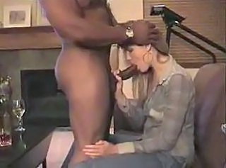 Big cock Blowjob Clothed Interracial Wife