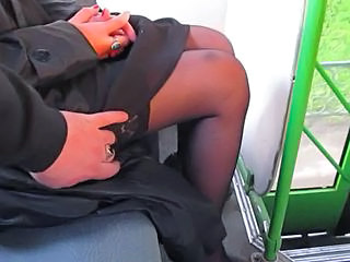 Bus Stockings Voyeur