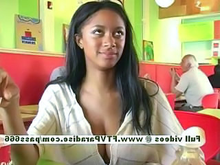 Amazing Big Tits Ebony Public