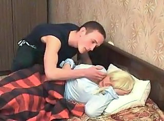 Amateur Blonde Cute MILF Mom Sleeping