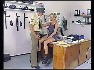 Blonde Office Pornstar Uniform