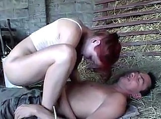 Farm Redhead Riding Teen