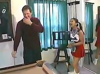 Asian Cheerleader Old and Young Pigtail Skirt Uniform