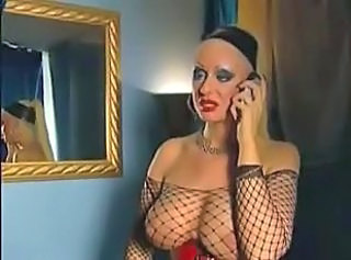 Big Tits Fishnet MILF Pornstar Train