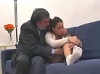 Amateur Brunette Daddy Old and Young