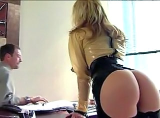 Cur Blonda Latex MILF Birou Star porno Secretara