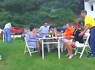 Amateur German Outdoor Party Swingers