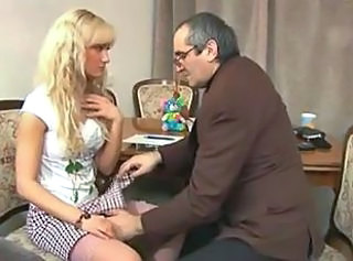 Amateur Blonde Cute Old and Young Skirt