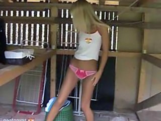 Amateur Blonde Panty Skinny Teen