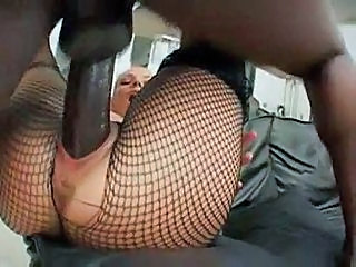 Big cock Fishnet Hardcore Interracial Pantyhose