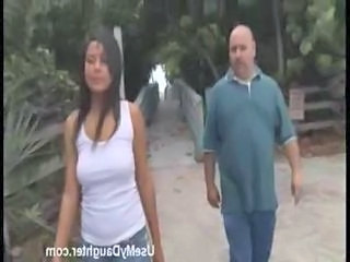 Brunette Daddy Daughter Old and Young Teen Young