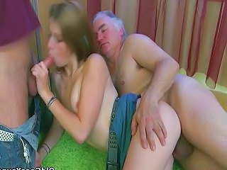 Blowjob Groupsex Old and Young Teen Threesome Young