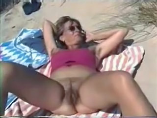 Beach Hairy Mature Outdoor