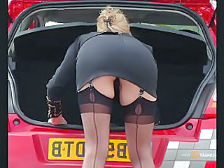 Public Stockings Upskirt